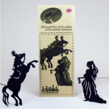 Ombres articulées La princesse et le cheval Les Jouets Français Silhouettes articulées pour encore plus de réalisme.