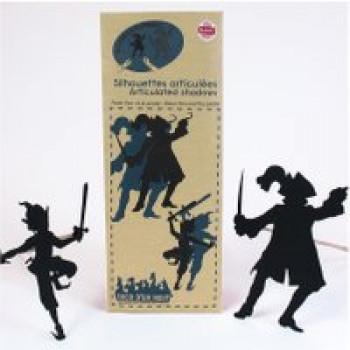 Ombres articulées Peter Pan et le pirate Les Jouets Français Silhouettes articulées pour encore plus de réalisme.