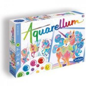 Aquarellum junior - Licornes Les Jouets Français Tableaux sertis à peindre sur le thème des licornes