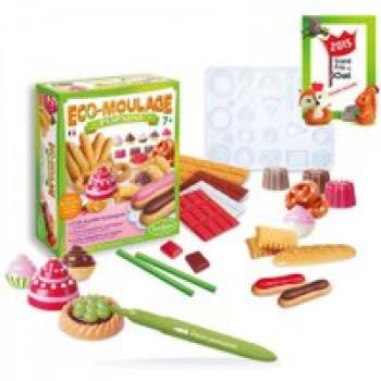 Eco-moulage Popsine - Ma petite boulangerie Les Jouets Français Crée ta petite boulangerie avec cette matière naturelle et réutilisable à l'infinie