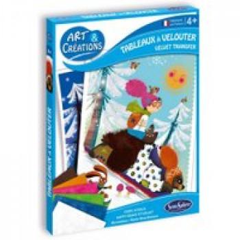 Tableau à velouter - Ours joyeux Les Jouets Français Tableaux à colorer grâce à une texture veloutée