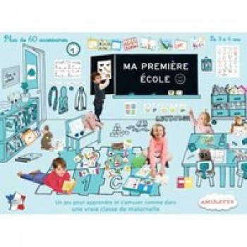 Ma première école Les Jouets Français Jeu d'imitation contenant tous les accessoires pour jouer à la maîtresse.