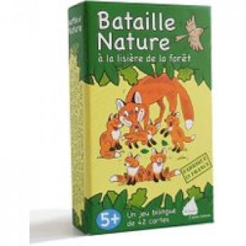 Bataille Nature à la lisière de la forêt Les Jouets Français Jeu de bataille bilingue pour découvrir la forêt