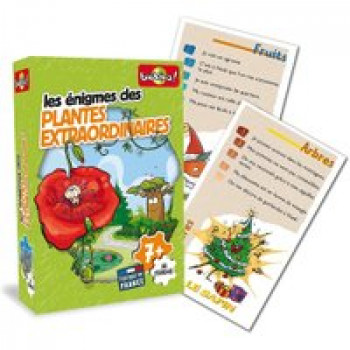 Les énigmes des plantes extraordinaires Les Jouets Français Jeu d'énigmes sur le thème des plantes et végétaux