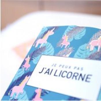 Mini bloc note Licorne Les Jouets Français Je peux pas j'ai licorne !