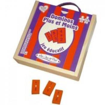 Domino plus et moins Les Jouets Français Jeu de dominos éducatif pour travailler les additions et soustraction en s'amusant !