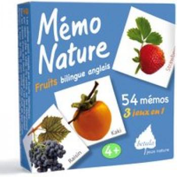 Mémo Nature fruits bilingue anglais Les Jouets Français Jeu 3 en 1 pour découvrir les fruits.