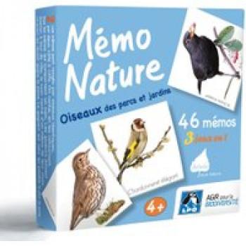 Mémo Nature oiseaux des parcs et jardins Les Jouets Français Jeu 3 en 1 pour découvrir les oiseaux des parcs et jardins.