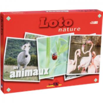 Loto Animaux Les Jouets Français Jeu de loto autour des animaux avec des photos colorées.