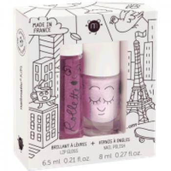 Coffret Duo roulette + Vernis à l'eau Les Jouets Français Coffret vernis à l'eau et brillant à lèvres spécialement conçu pour les enfants