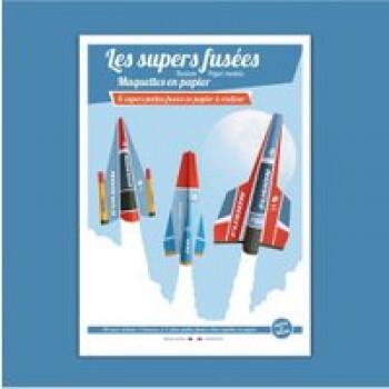 Les supers fusées Les Jouets Français 6 super fusées en papier à réaliser et à lancer