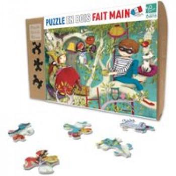 Puzzle - La lecture Les Jouets Français Puzzle en bois 50 pièce fait à la main aux décors poétiques