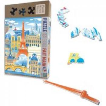 Puzzle - Paris en folie Les Jouets Français Puzzle en bois 50 pièces fait à la main
