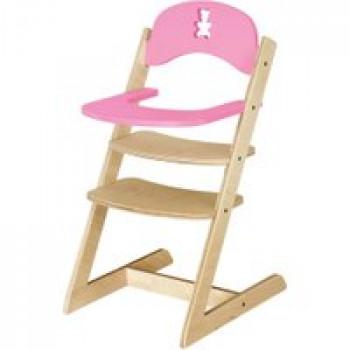 Chaise haute nounours en bois Les Jouets Français Chaise haute en bois pour nounours ou poupée
