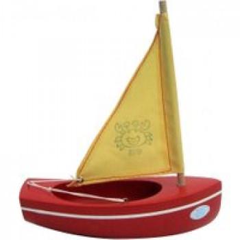 Thonier coque rouge 17 cm Les Jouets Français Thonier en bois de 17 cm idéal pour jouer dans le bain